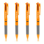 Rubber Grip Multi Color Plastic Pen