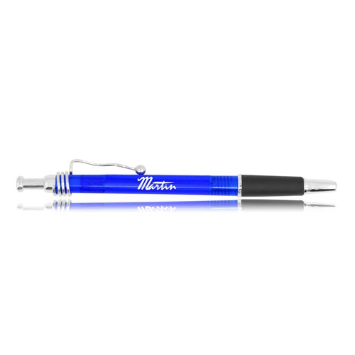Retractable Plastic Ball Point Pen Image 2