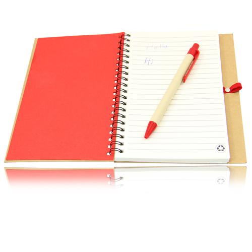 Eco Friendly Spiral Notebook with Pen Image 10