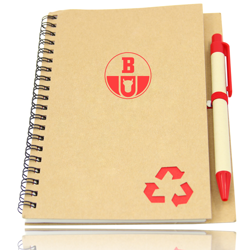 Eco Friendly Spiral Notebook with Pen Image 2