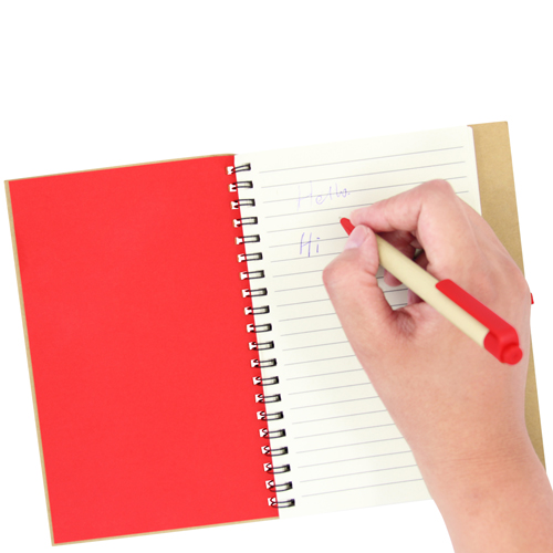 Eco Friendly Spiral Notebook with Pen Image 3