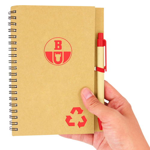 Eco Friendly Spiral Notebook with Pen Image 4