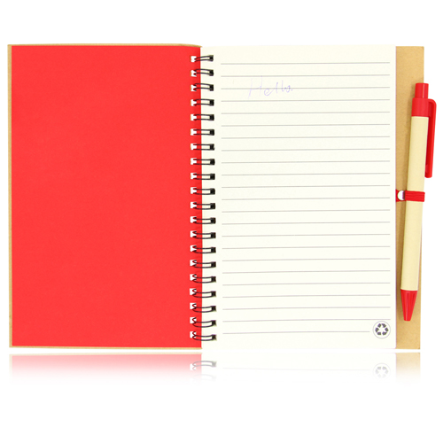 Eco Friendly Spiral Notebook with Pen