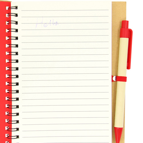 Eco Friendly Spiral Notebook with Pen Image 6