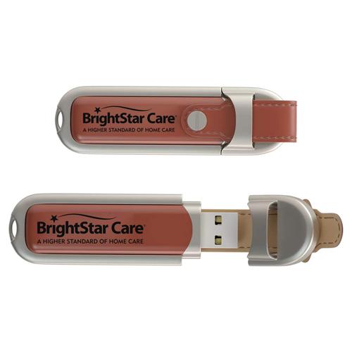 8GB Leather Flash Drive Image 2