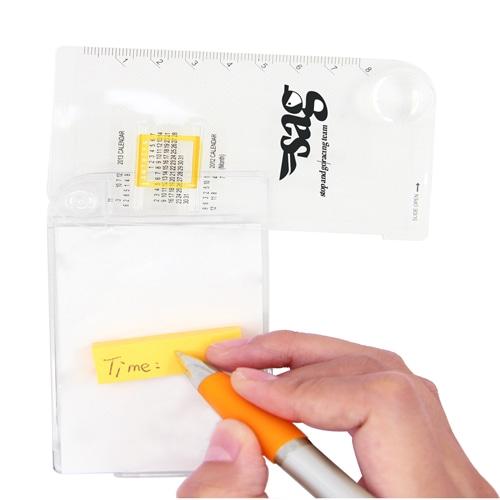 Calendar Notepad With Ruler