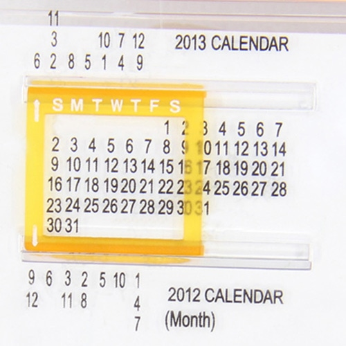 Calendar Notepad With Ruler