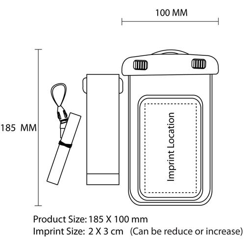 Firm Lanyard Waterproof PVC Bag