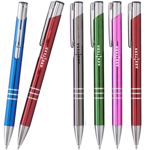 Click Action Shiny Metal Pen