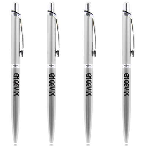 Chrome Trim Retractable Pen
