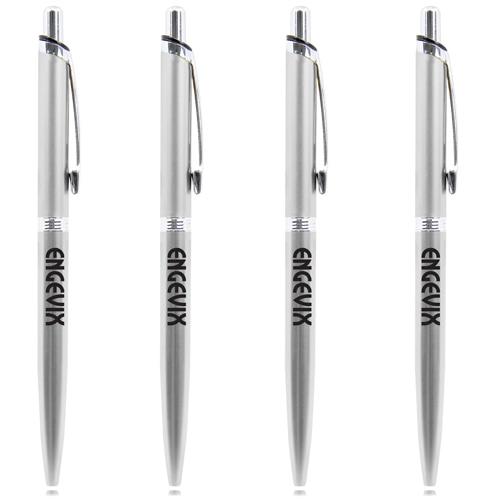 Chrome Trim Retractable Pen