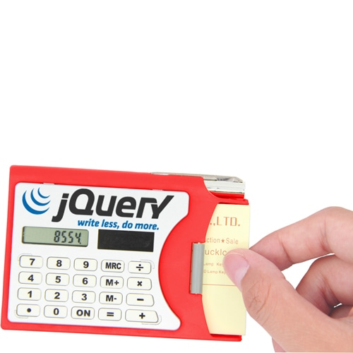 Solar Calculator with Card Holder