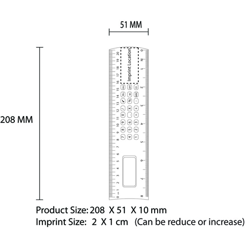 Ruler Calculator Imprint Image