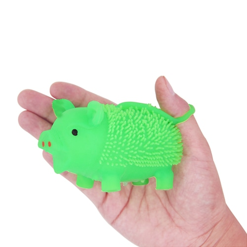 Pig Yo-Yo Puffer Ball With Light