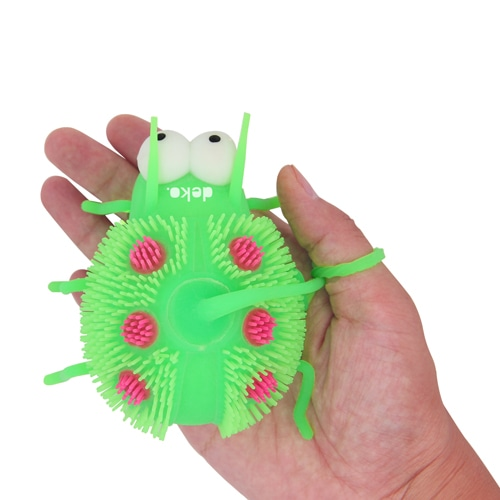 Ladybug Shaped Yo-Yo Puffer Ball With Light