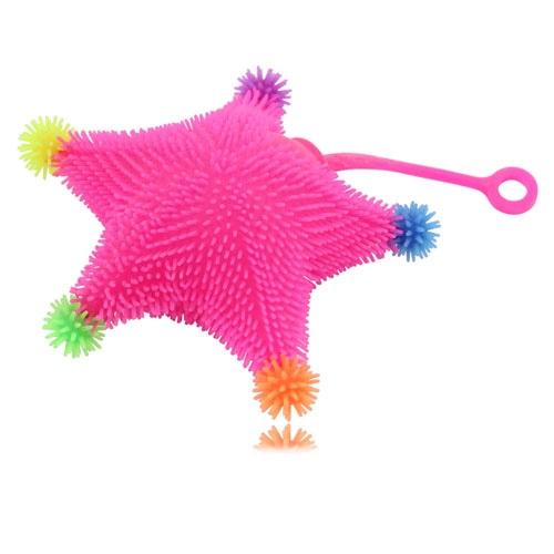 Starfish Shaped Yo-Yo Puffer Ball With Light
