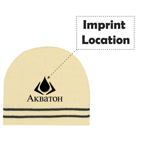 Trim Beanie Hat Imprint Image