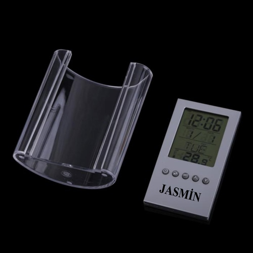 Translucent Pen Holder Desk Clock