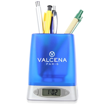Ace Pen Holder With Time And Alarm