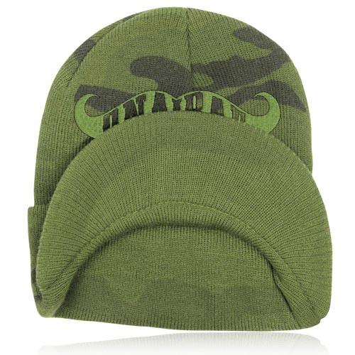 Knit Camouflage Visor Hat Image 9