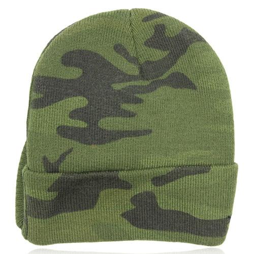 Knit Camouflage Visor Hat Image 10