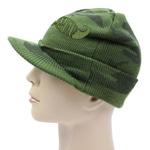 Knit Camouflage Visor Hat