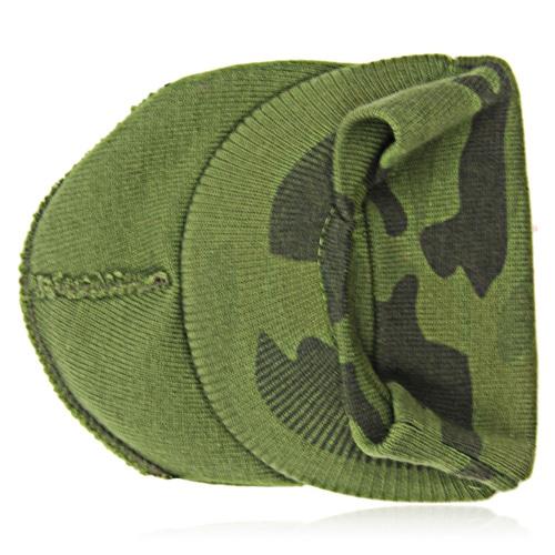 Knit Camouflage Visor Hat Image 1