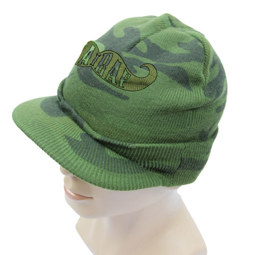 Knit Camouflage Visor Hat Image 6