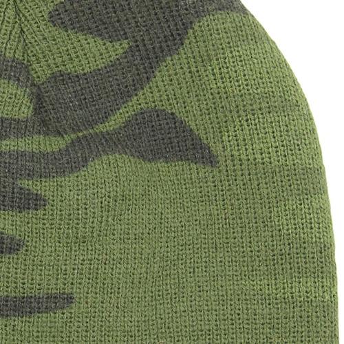 Knit Camouflage Visor Hat Image 8