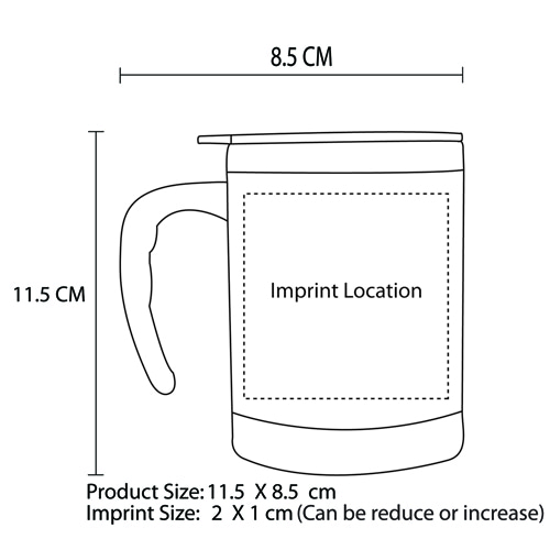 450ML Translucent Travel Mug