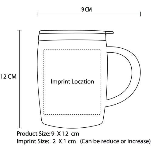 450ML Drum Shape Travel Mug Image 8