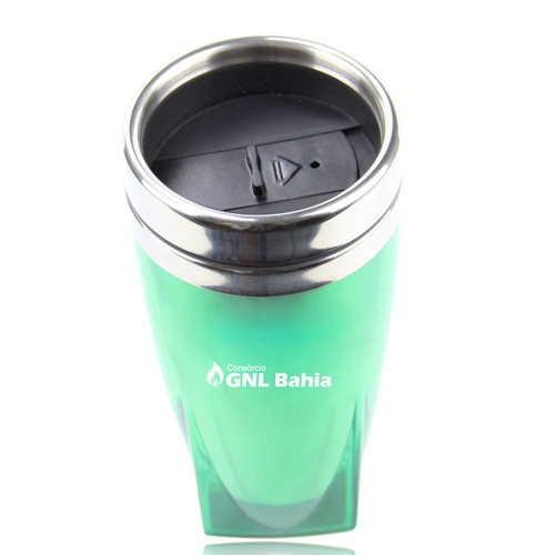 450ML Square Bottom Travel Mug Image 2