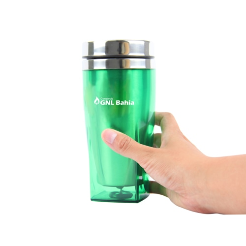 450ML Square Bottom Travel Mug Image 3