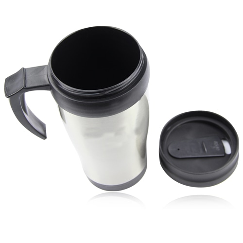 450ML Stainless Steel Travel Mug With Handle Image 2
