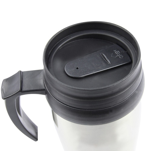 450ML Stainless Steel Travel Mug With Handle Image 4