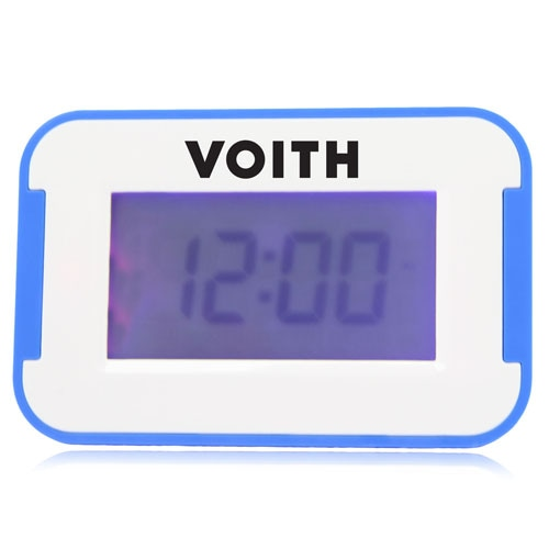 Flat Screen Alarm Desk Clock Image 4