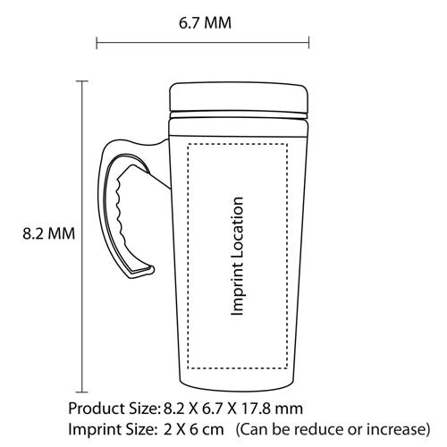 400ML Sportster Travel Mug Imprint Image