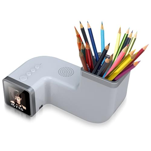 Radio Digital Photo Frame With Pen Holder