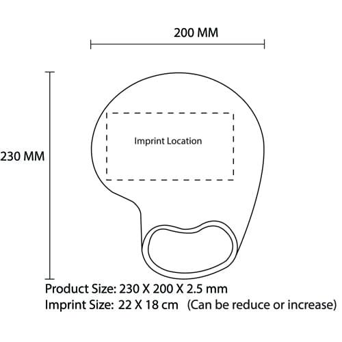 Comfy Wrist Rest Mousepad Imprint Image