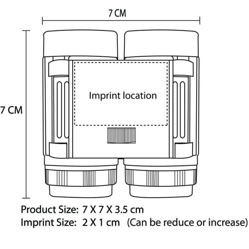 Mini Pocket Size Binocular Imprint Image