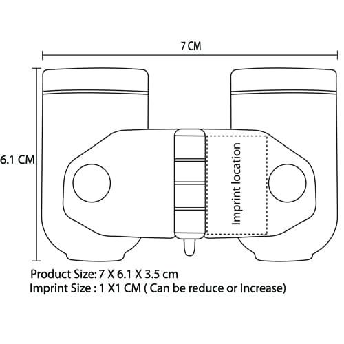 Foldable Binoculars Imprint Image