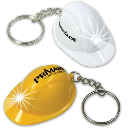 Safety Helmet Keychain With Flashlight
