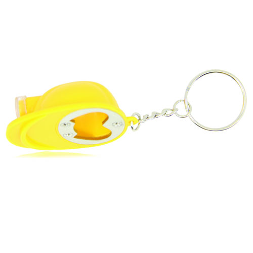 Safety Helmet Bottle Opener Keychain Image 1
