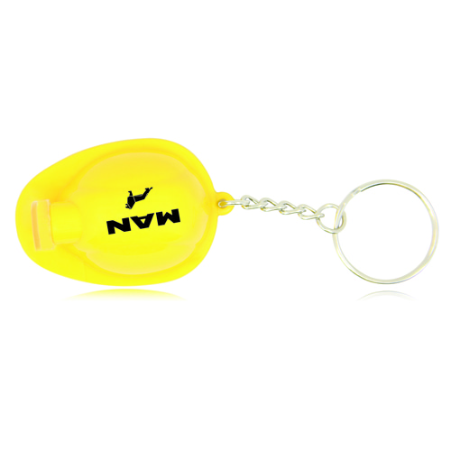Safety Helmet Bottle Opener Keychain Image 2