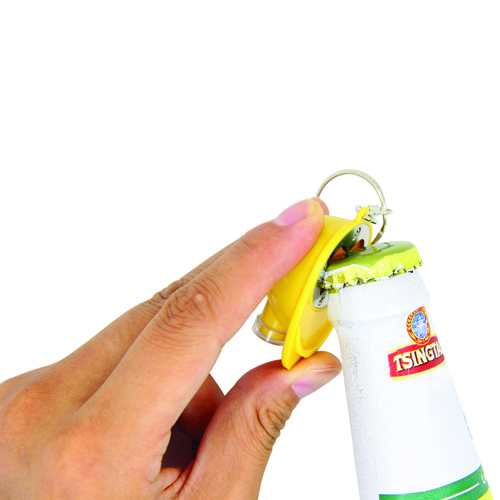 Safety Helmet Bottle Opener Keychain Image 3