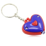 Cute Heart Shaped Keyring Led Light