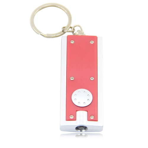 Opaque Rectangular Keychain With Led Light
