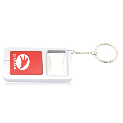 Led Light Bottle Opener Keychain Image 1