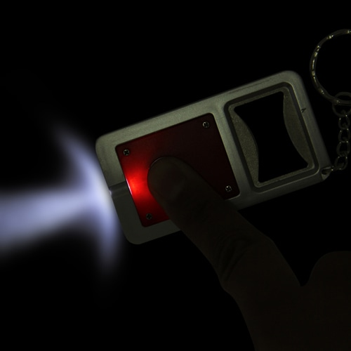 Led Light Bottle Opener Keychain Image 3