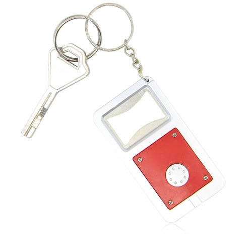 Led Light Bottle Opener Keychain Image 5